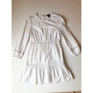 J. Crew white long sleeve dress
